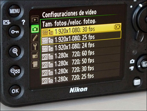 Nikon D800 Full frame, video Full Hd